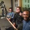 U-Mass graduate students in radio studio